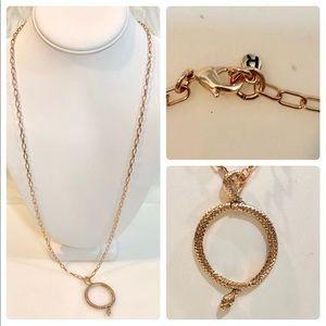 RACHEL Rachel Roy Circle Snake Pendant Necklace